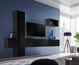 Dzīvojamās istabas mēbeļu komplekts ASM Blox VI Black