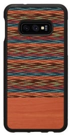 Man&Wood Browny Check Back Case For Samsung Galaxy S10e Black/Brown