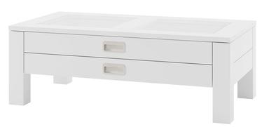Kafijas galdiņš Szynaka Meble Anzio White, 1100x600x390 mm