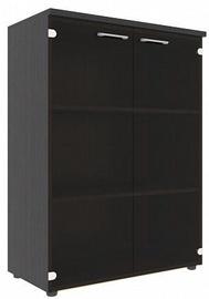 Skyland Xten XMC 85.2 Office Cabinet w/ Glass Door Legno Dark