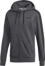 Adidas Essentials 3 Stripes Fleece Hoodie DX2528 Grey 2XL