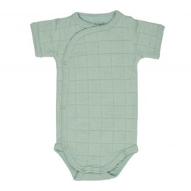 Lodger Romper Solid Body With Short Sleeves Silt Green 74cm