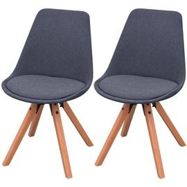 Стул для столовой VLX Fabric 243564, темно-серый, 2 шт.