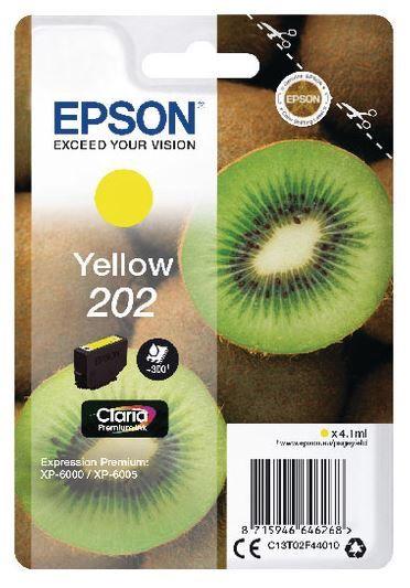 Epson Ink Cartridge 202 For Epson 4.1ml Yellow