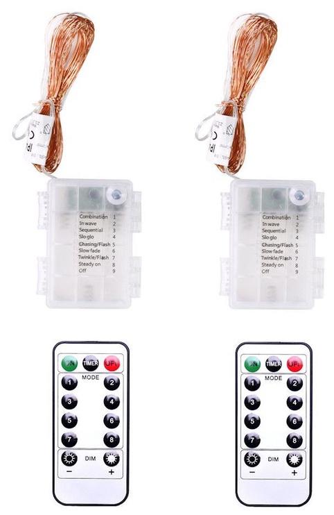 Elektriskā virtene DecoKing LED Micro, silti balta, 6.3 m