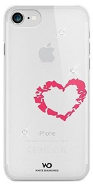 White Diamonds Lipstick Heart Case With Swarovski Crystals For Apple iPhone 6/6s Transparent