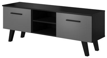 ТВ стол Vivaldi Meble Nord, черный/серый, 1400x380x520 мм
