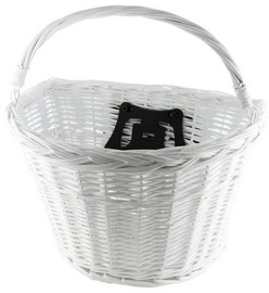 Good Bike Willow Basket With Handle & Quick Release White