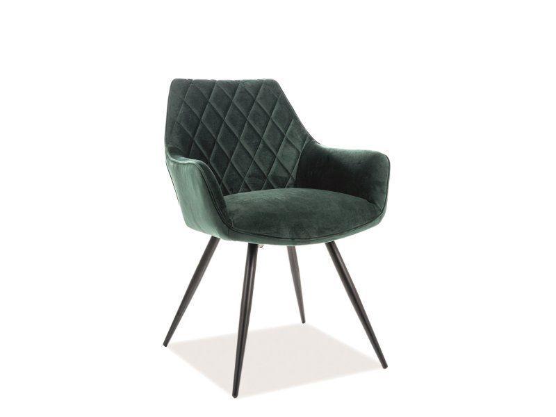 Ēdamistabas krēsls Signal Meble Modern Linea Velvet, zaļa