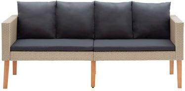 Садовый диван VLX 2-Seater Garden Sofa 310215, черный/песочный