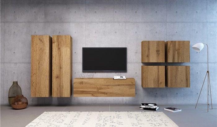 Vivaldi Meble Vivo 01 Wall Shelf With LED Wotan Oak