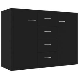 Skapītis VLX Chipboard, melna, 88 cm x 30 cm x 65 cm