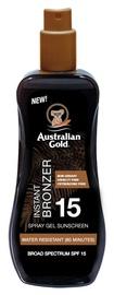 Sprejs saules aizsardzībai Australian Gold Instant Bronzer SPF15, 100 ml