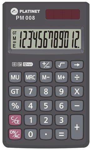 Platinet PMC008A Pocket Calculator + Case Black