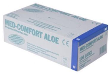 Darba cimdi Ampri Med Comfort Aloe Latex Powder Free Gloves S 100pcs