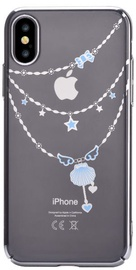 Devia Shell Back Case With Swarovsky Crystals For Apple iPhone X/XS Silver