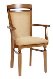Ēdamistabas krēsls Black Red White Bawaria Dkrs P Walnut/Beige