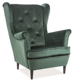 Atzveltnes krēsls Signal Meble Lady Green, 75x85x101 cm