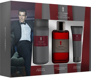 Antonio Banderas The Secret Temptation 100ml EDT + 75ml Aftershave Balm + 150ml Deodorant Spray