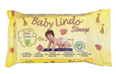 Mitrās salvetes Baby Lindo Stenago Aloe Vera, 72 gab.