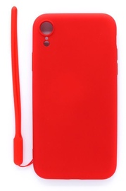 Evelatus Soft Touch Back Case With Strap For Apple iPhone XR Red