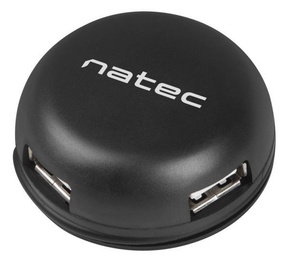 USB-разветвитель (USB-hub) Natec Bumblebee USB 2.0 4-port Hub Black
