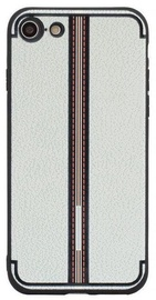 Mocco Trendy Grid And Stripes Pattern 3 Back Case For Apple iPhone 7/8 White