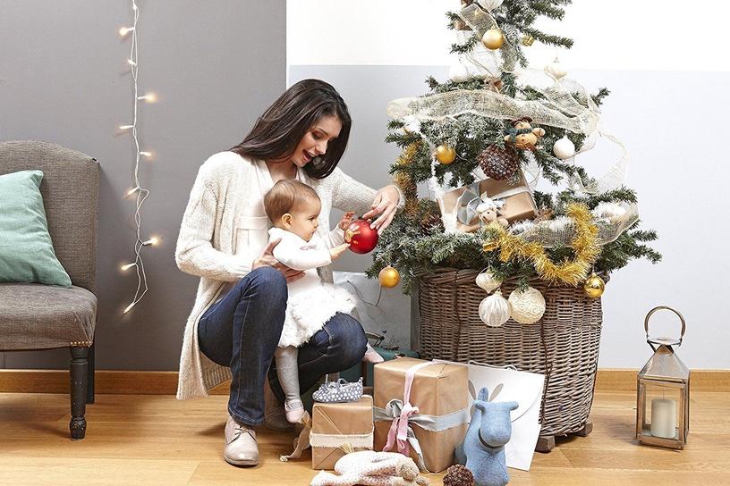 Komplekts roku / kāju zīmogu izveidei Baby Art Christmas Ball Gold