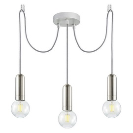 Leuchten Direkt Turn Me Ceiling Lamp 3x60W E27 Chrome