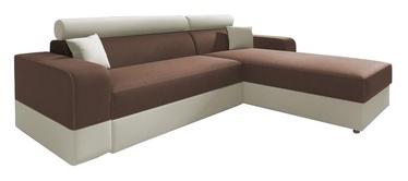 Stūra dīvāns Idzczak Meble Infinity Lux Brown/Beige, labais, 184 x 184 x 95 cm