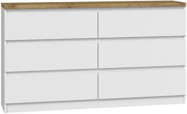 Kumode Top E Shop Malwa M6 B22, balta, 138x40x78 cm