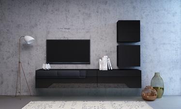 Dzīvojamās istabas mēbeļu komplekts Vivaldi Meble Vivo Vivo 1, melna