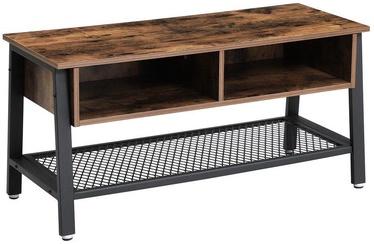 ТВ стол Songmics, коричневый/черный, 1000x400x500 мм