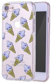 Mocco Cartoon Eyes Ice Cream Back Case For Samsung Galaxy A3 A320 Transparent/Purple