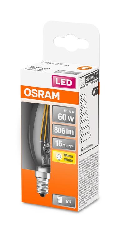 Spuldze Osram 4058075434981, led, E14, 6 W, 806 lm, silti balta