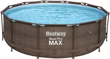 Бассейн Bestway Power Steel Deluxe, коричневый, 3660x1000 мм, 9150 л