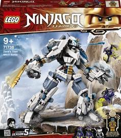 Konstruktors LEGO Ninjago Zane titāna robota cīņa 71738, 840 gab.