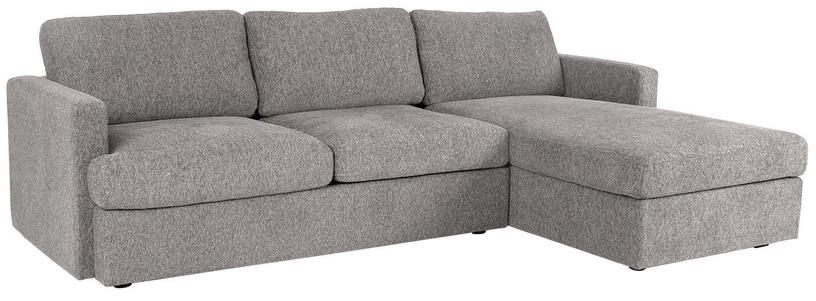 Угловой диван Home4you York RC Light Grey, 256 x 163 x 85 см