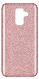 Wozinsky Glitter Shining Back Case For Samsung Galaxy A6 Plus Pink