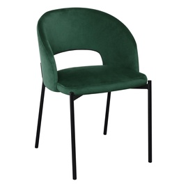 Ēdamistabas krēsls Halmar K455, melna/tumši zaļa