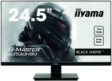 "Monitors Iiyama G-Master Black Hawk G2530HSU-B1, 24.5"", 1 ms"