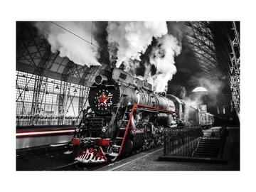 Fotoattēls Signal Meble Locomotive Glass Painting 120x80cm