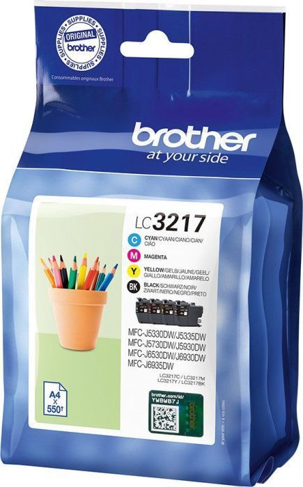 Brother Cartridge LC3217VALDR Pack Black/Yellow/Cyan/Magenta