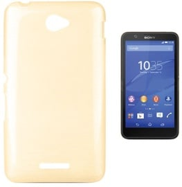 Forcell Jelly Brush Back Case For Sony E2104/E2105 Xperia E4 Gold