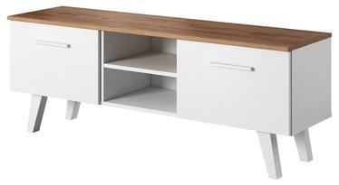 ТВ стол Vivaldi Meble Nord, коричневый/белый, 1400x380x520 мм