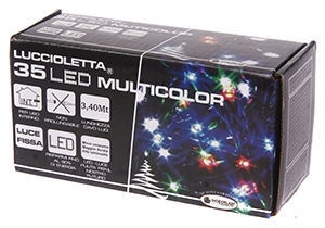 Elektriskā virtene Giocoplast Natale LED 35, daudzkrāsaina
