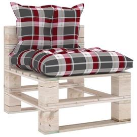 Садовый диван VLX 3066081, коричневый/многоцветный