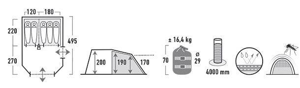 Telts High Peak Durban 5 11810