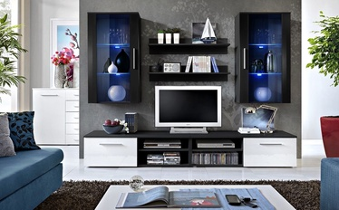 ASM Galino G Wall Unit Black/White Gloss