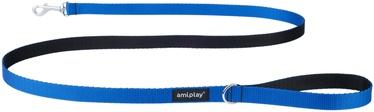 Поводок Amiplay Twist, синий, 1.5 м